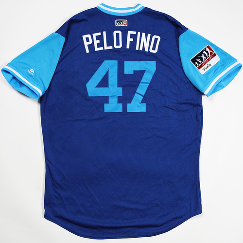 "Photo of Randy ""Pelo Fino"" Rosario Chicago Cubs Game-Used 2018 Players' Weekend Jersey"