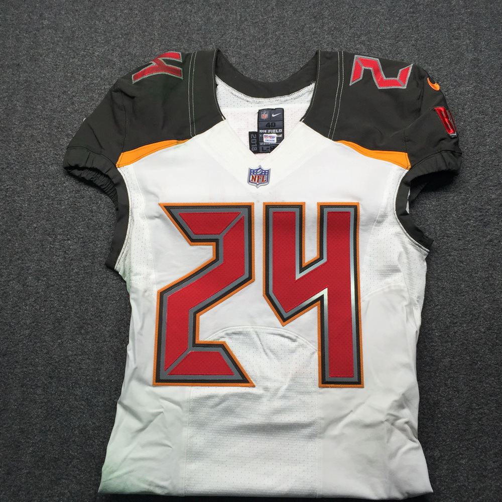 NFL Auction | STS - Buccaneers Brent Grimes Game Used Jersey Size ...