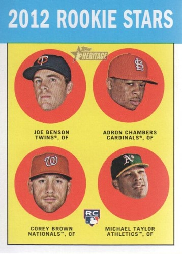 Photo of 2012 Topps Heritage #95 Joe Benson RC/Adron Chambers RC/Corey Brown RC/Michael Taylor RC
