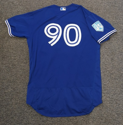 Photo of Authenticated Game Used 2019 Spring Training Jersey - #90 Riley Adams (Mar 25). Size 48