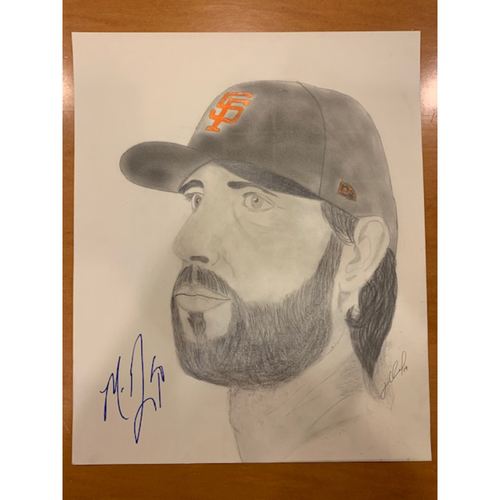 Photo of Giants End of Season Auction: Madison Bumgarner Autographed Portrait Sketch