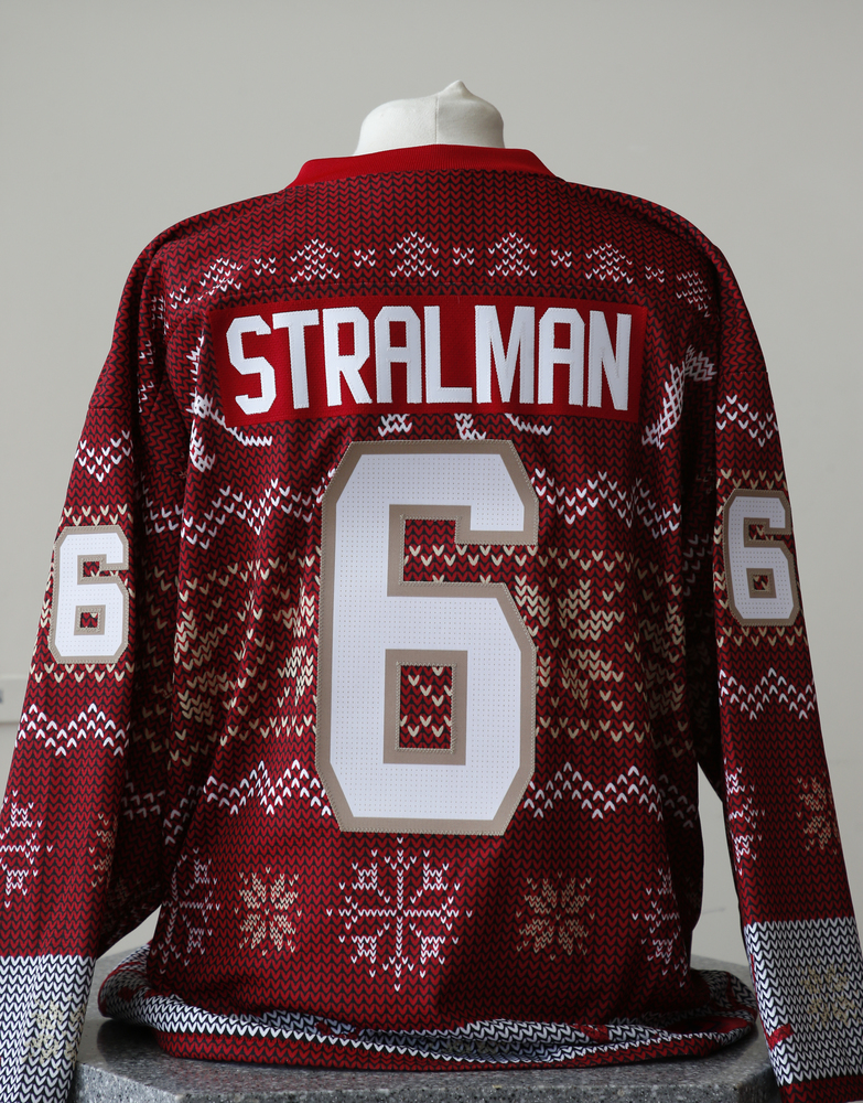 #6 Anton Stralman Autographed Holiday Jersey