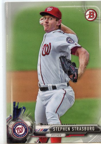 Photo of 2017 Bowman Silver #14 Stephen Strasburg 364/499
