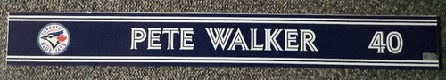 Photo of Authenticated Game Used Locker Name Plate - #40 Pete Walker (Sept 24, 18)