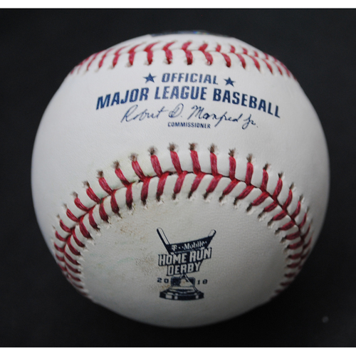 Photo of 2018 Home Run Derby (07/16/18) - Game-Used Baseball - Alex Bregman (Houston Astros) - Out