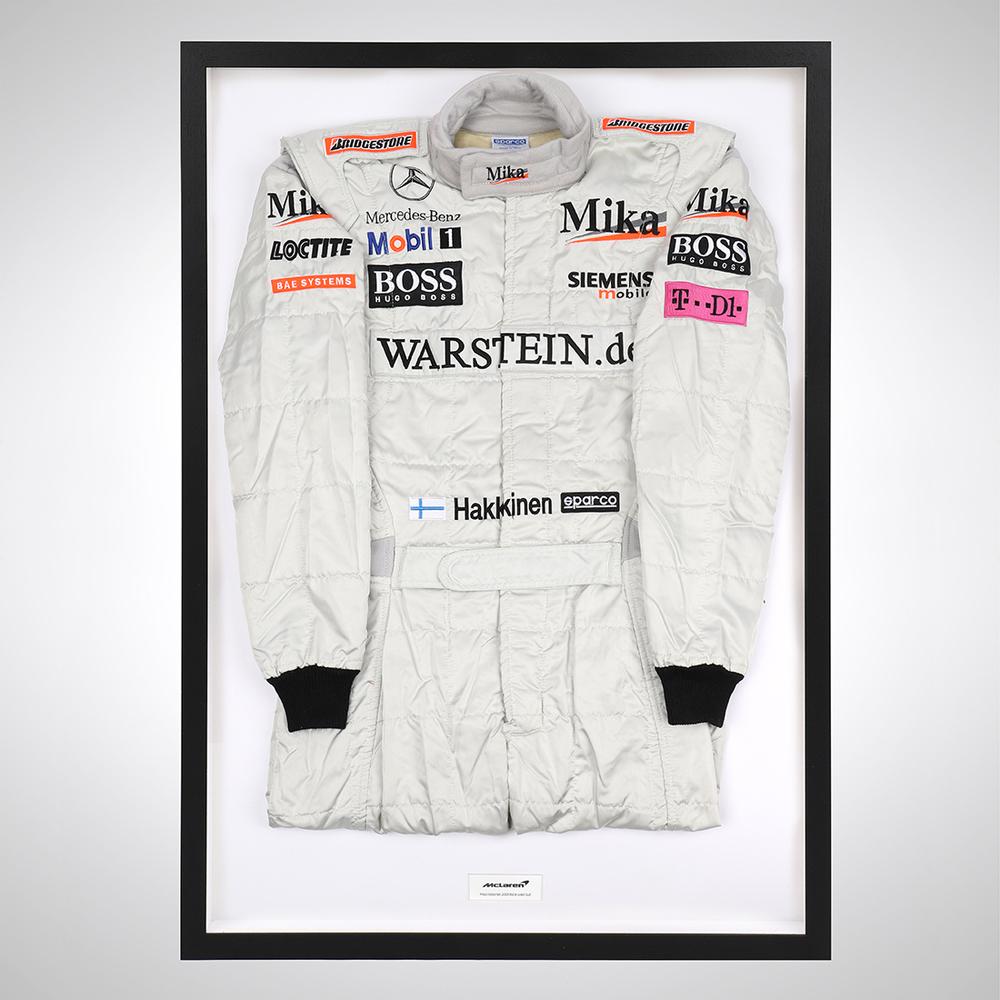 Mika Hakkinen 2001 Framed Race-worn Suit - McLaren