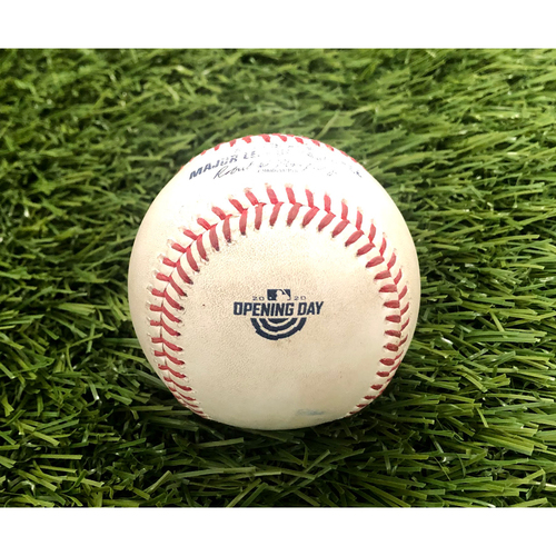 Photo of 2020 Opening Day: Game-Used Baseball: Adam Eaton Home Run