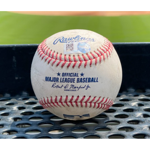 Photo of Game-Used Baseball - Pitcher: Jon Gray, Batter: Rougned Odor (Home Run to right field) - August 16, 2020 vs. Texas Rangers