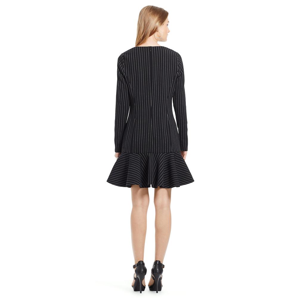 Photo of Polo Ralph Lauren Pinstriped Stretch Wool Dress