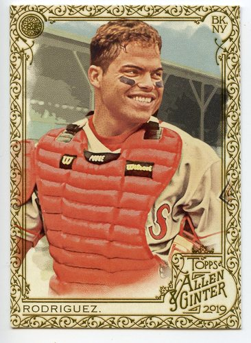 Photo of 2019 Topps Allen and Ginter Gold Border #90 Ivan Rodriguez