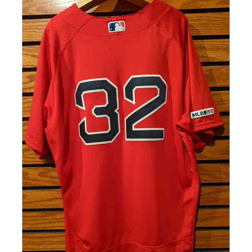 Photo of Matt Barnes #32 Game Used Red Home Alternate Jersey