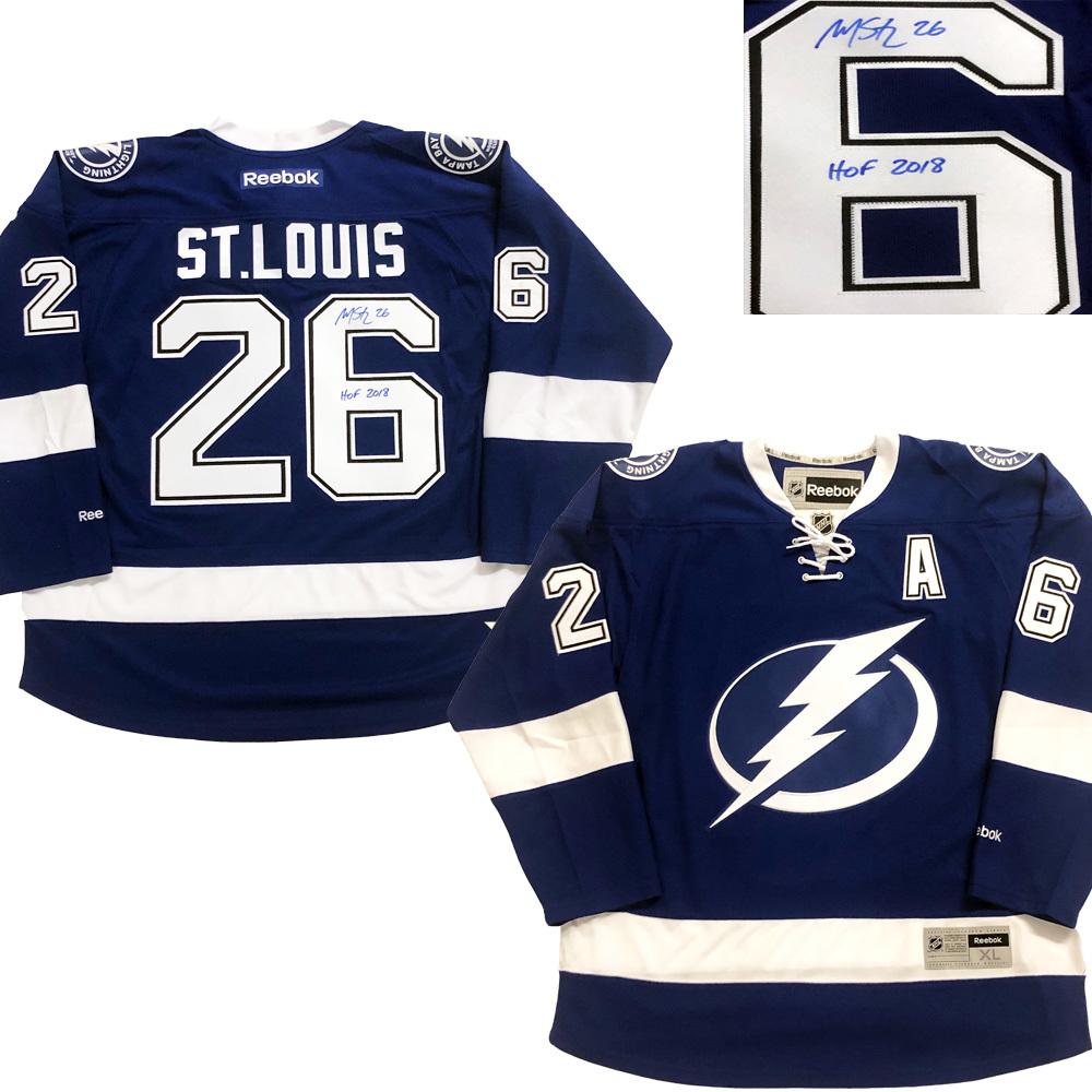 MARTIN ST. LOUIS Tampa Bay Lightning Reebok W/ HOF
