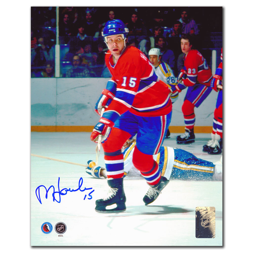 Rejean Houle Montreal Canadiens BREAKOUT Autographed 8x10