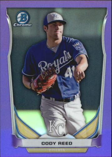 Photo of 2014 Bowman Chrome Prospects Series 2 Purple Refractors #BCP44 Cody Reed