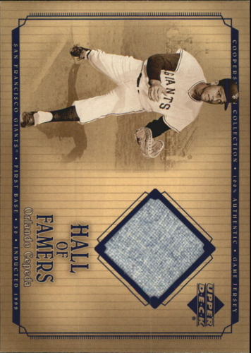 Photo of 2001 Upper Deck Hall of Famers Game Jersey #JOC Orlando Cepeda