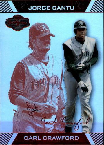Photo of 2007 Topps Co-Signers Hyper Silver Red #28B Carl Crawford w/Jorge Cantu