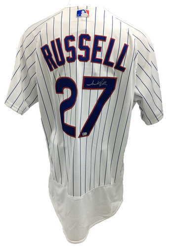Photo of Addison Russell Autographed Jersey: Size - 48