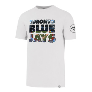 Toronto Blue Jays Two Peat Flanker T-Shirt White by '47 Brand