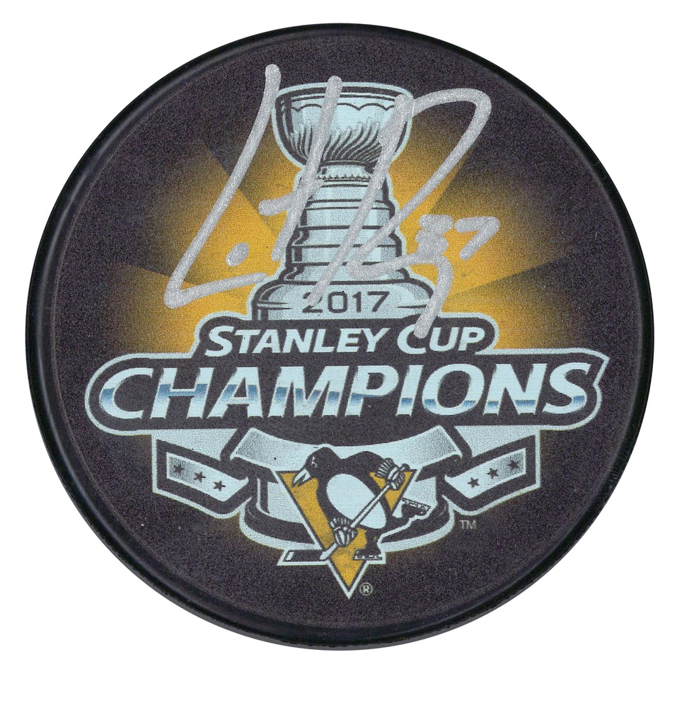 Carter Rowney - Signed Puck Pittsburgh Penguins 2017 Stanley Cup Champions