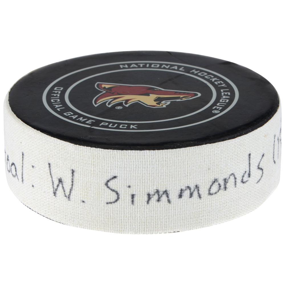 Wayne Simmonds Philadelphia Flyers Goal Scored Puck From February 10, 2018 vs. Arizona Coyotes