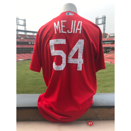 Cardinals Authentics: Team Issued Alex Mejia 2018 Spring Training Jersey