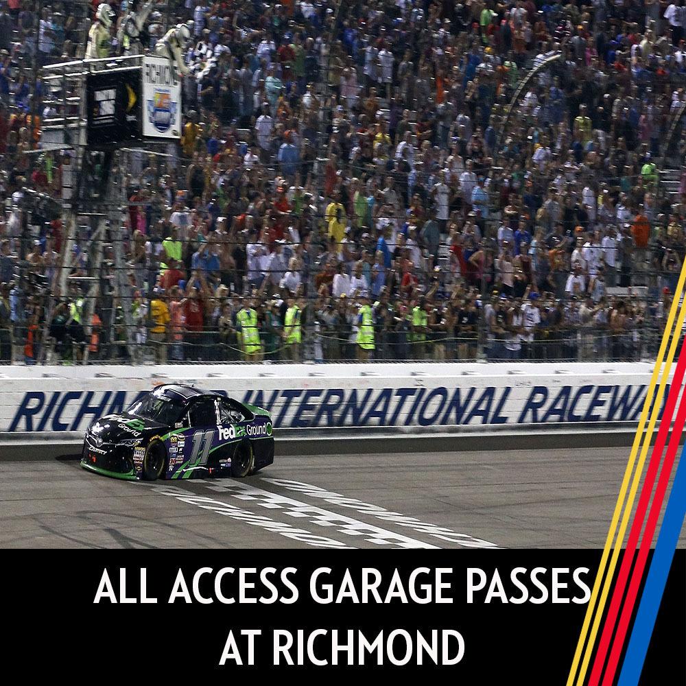 All Access Garage Passes at Richmond Raceway!