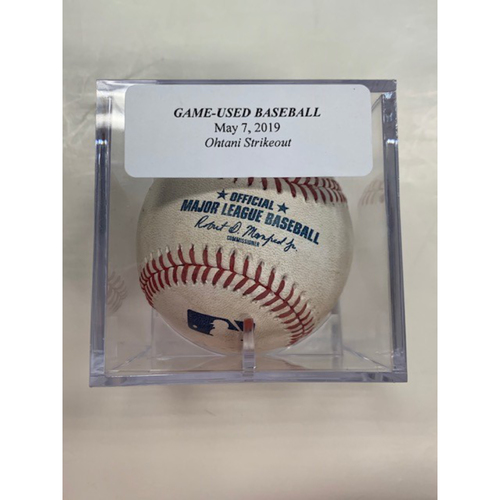 Photo of Game-Used Baseball: Shohei Ohtani Strike Out