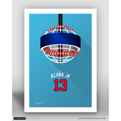 Photo of Minimalist SunTrust Park Ronald Acuna Jr. Player Series Art Print by S. Preston - Limited Edition