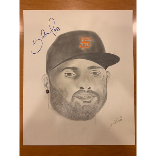 Photo of Giants End of Season Auction: Pablo Sandoval Autographed Portrait Sketch