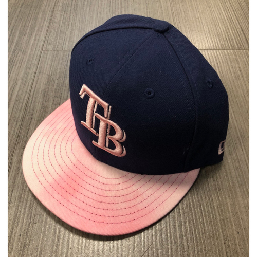 Game Used Mother's Day Cap: Yonny Chirinos (size 7 1/8) - May 12, 2019 v NYY