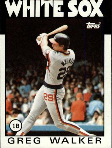 Photo of 1986 Topps #123 Greg Walker