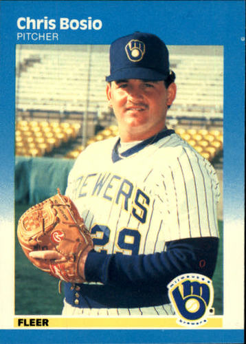 Photo of 1987 Fleer #338 Chris Bosio RC