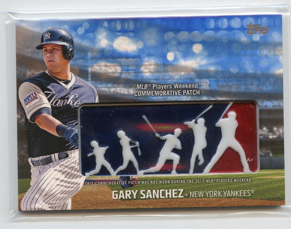 2018 Topps Players Weekend Patches Blue #PWPGSA Gary Sanchez 69/99