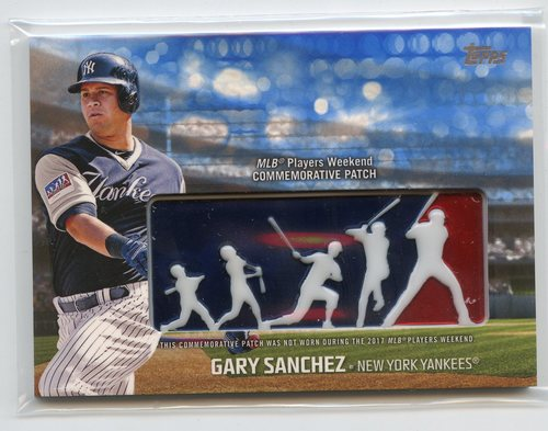 Photo of 2018 Topps Players Weekend Patches Blue #PWPGSA Gary Sanchez 69/99