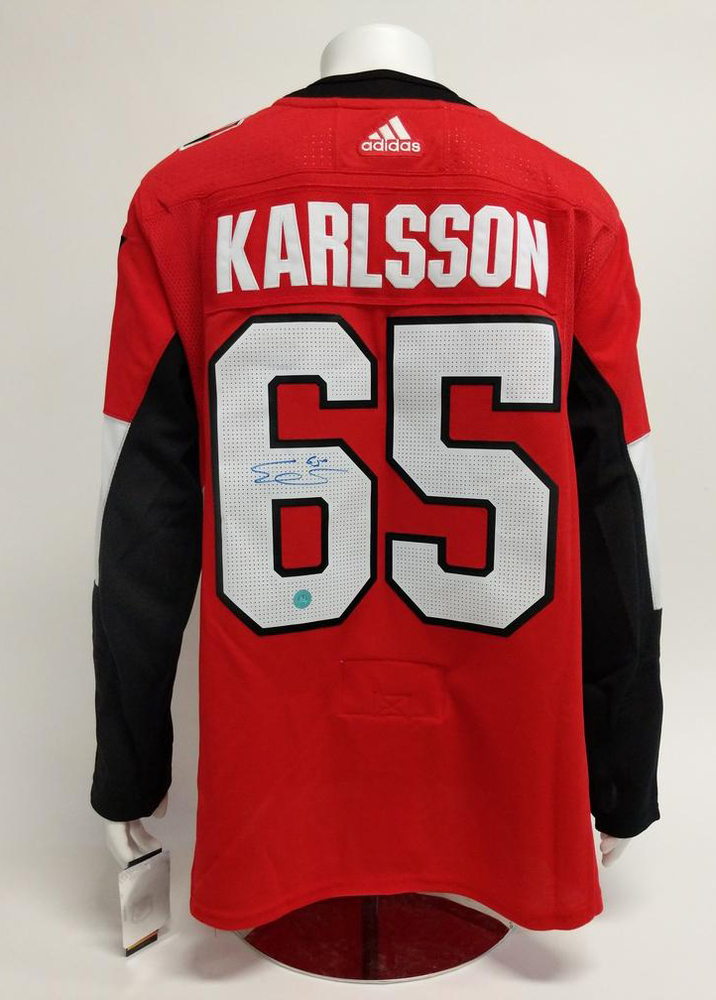 Erik Karlsson Ottawa Senators Autographed Adidas Authentic Hockey Jersey