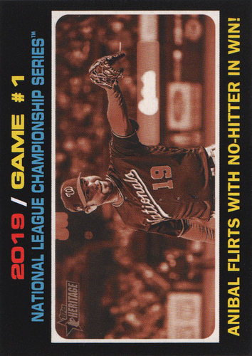 Photo of 2020 Topps Heritage #202 Anibal Sanchez PO HL