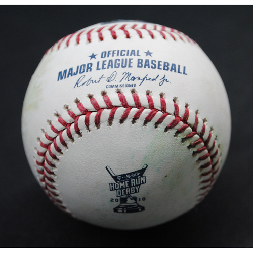 Photo of 2018 Home Run Derby (07/16/18) - Game-Used Baseball - Max Muncy (Los Angeles Dodgers) - Round 1, Out