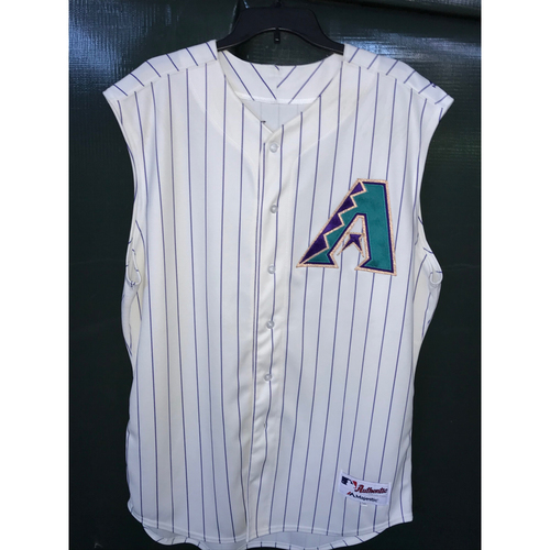 Photo of Andrew Chafin Game-Used Sleeveless Throwback Jersey, Size 50 -- 8/29/19 vs. Dodgers - 1.1 IP, 2 H, 2 K's