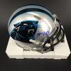Panthers - Mario Addison Signed Mini Helmet