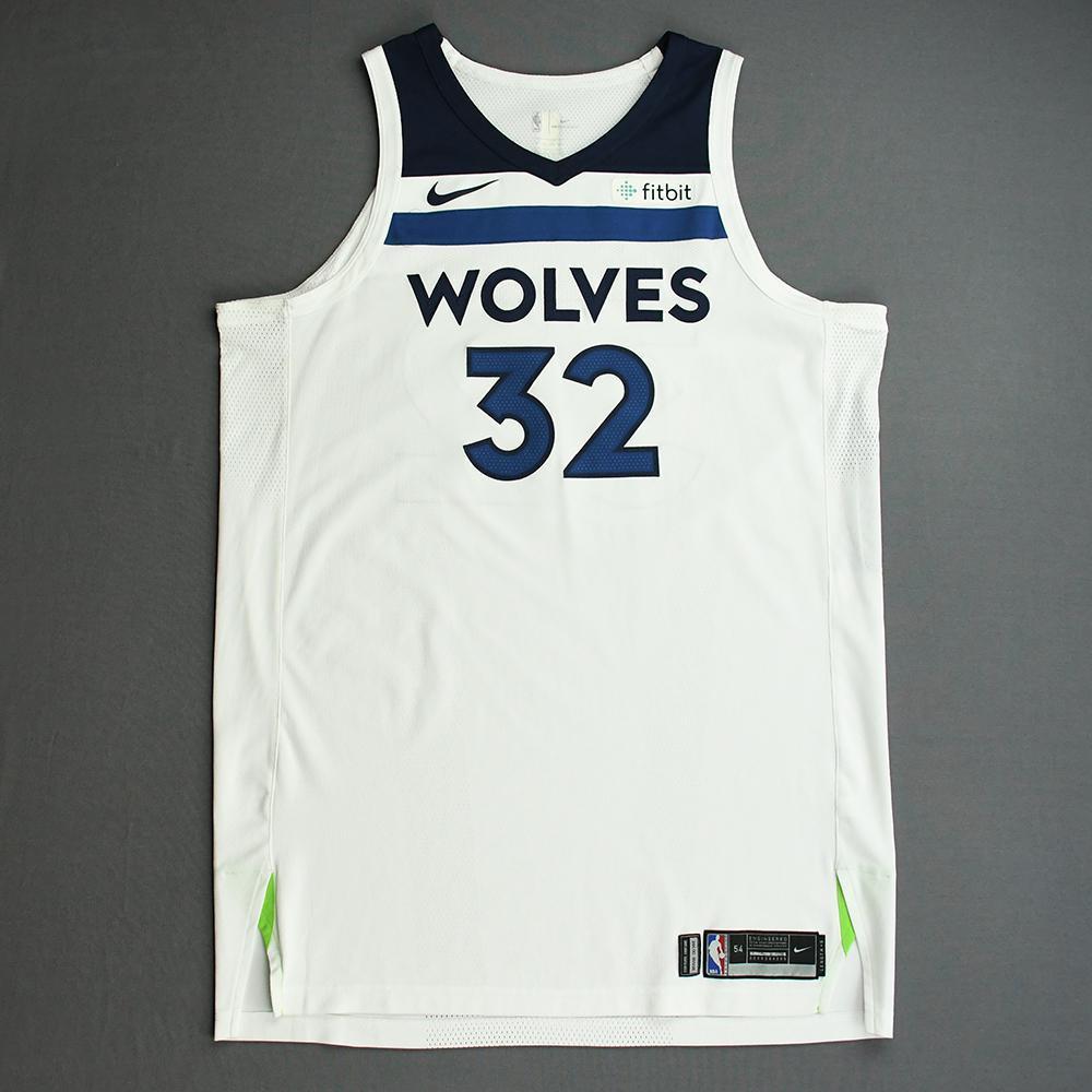Karl-Anthony Towns - Minnesota Timberwolves - NBA China Games - Game-Worn Association Edition Jersey - 2017-18 NBA Preseason