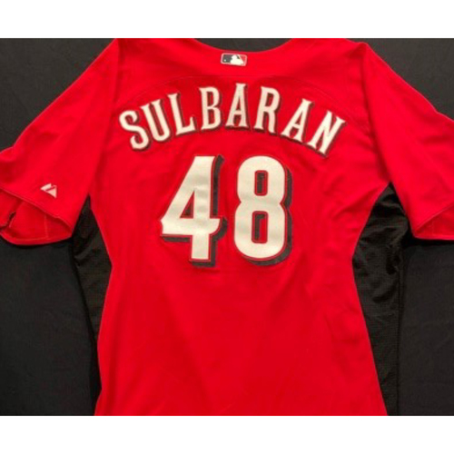 Photo of SULBARAN -- Authentic Reds Jersey -- $1 Jersey Auction -- $5 Shipping -- Size 48 (Not MLB Authenticated)
