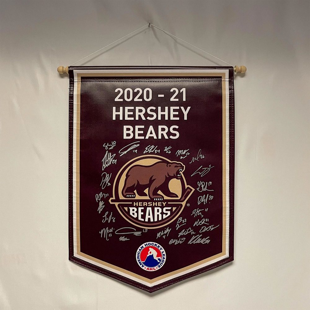 2020-21 Hershey Bears Team-Signed Banner