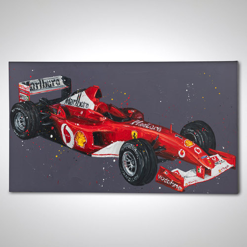 Photo of Michael Schumacher Ferrari - Paul Oz Artwork