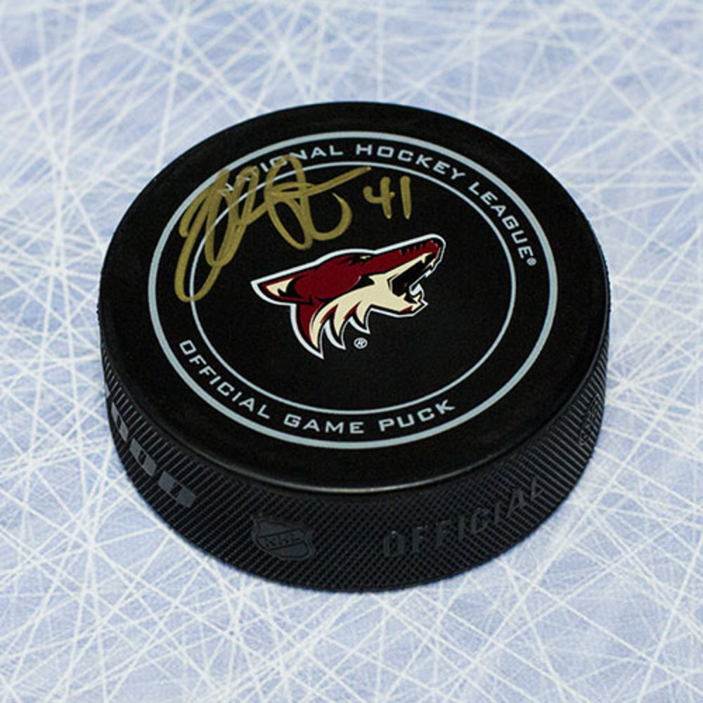Mike Smith Arizona Coyotes Autographed Official Game Puck