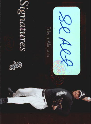Photo of 2003 Leaf Clubhouse Signatures Bronze #1 Edwin Almonte