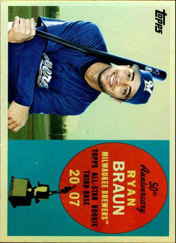 Photo of 2008 Topps 50th Anniversary All Rookie Team Gold #AR71 Ryan Braun