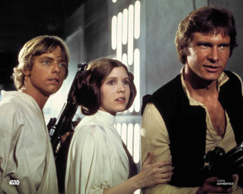 Luke Skywalker, Princess Leia Organa and Han Solo