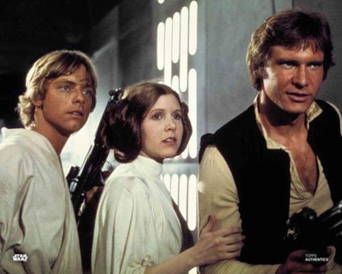Luke Skywalker, Princess Leia Organa and Han Solo
