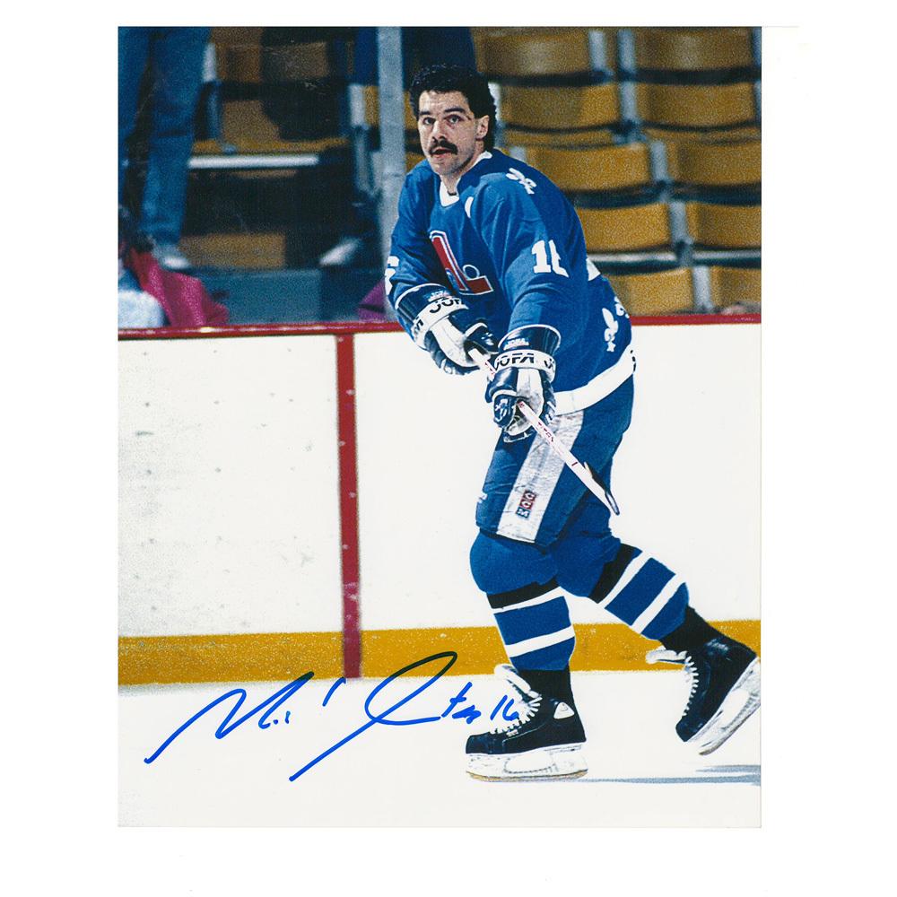 MICHEL GOULET Signed Quebec Nordiques 8 X 10 Photo - 70501