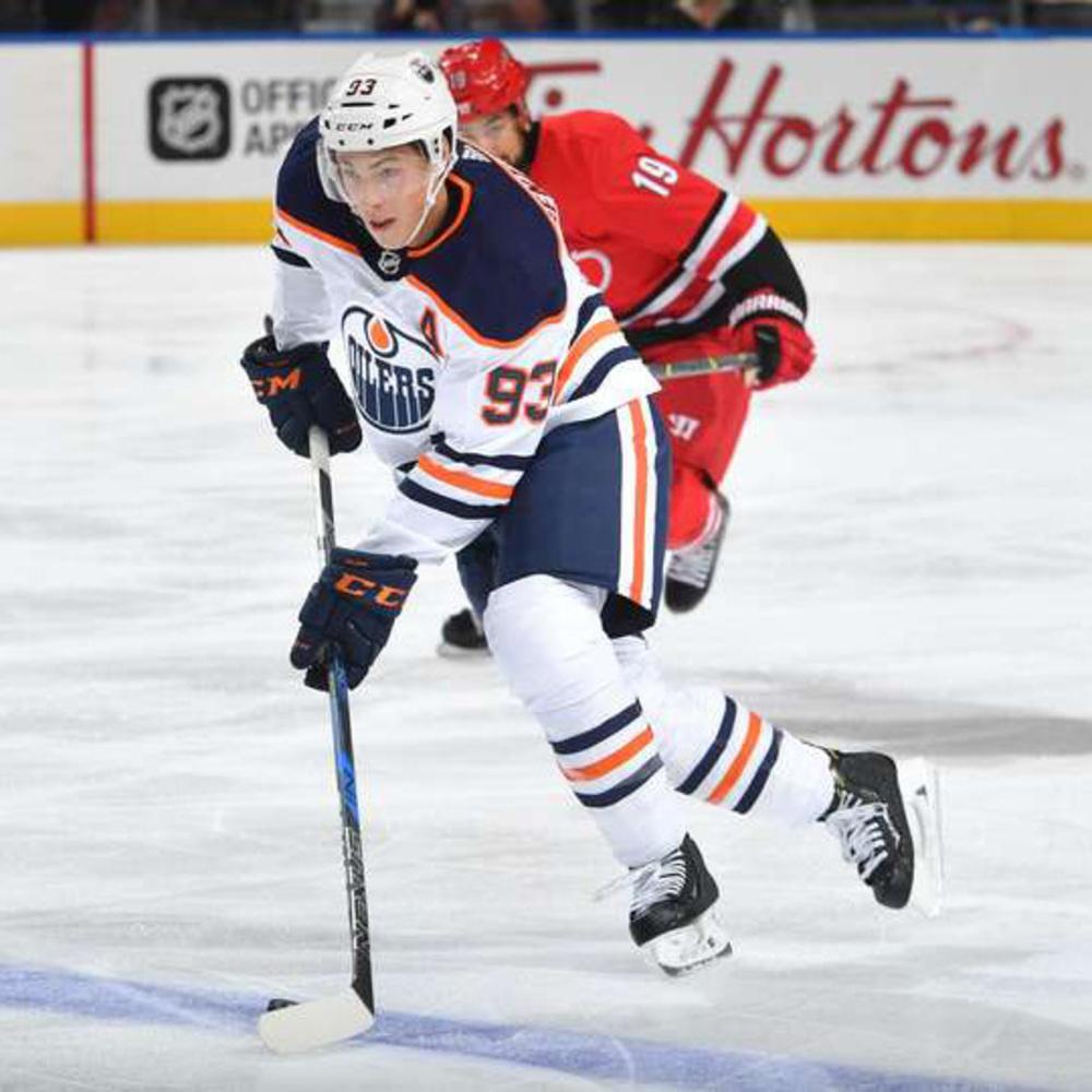 Ryan Nugent-Hopkins #93 - Autographed 2017-18 Edmonton Oilers Game Used Bauer Nexus 1N Stick